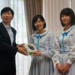 「STU48」岡山県出身メンバー張織慧・藤原あずさが伊原木知事を表敬訪問
