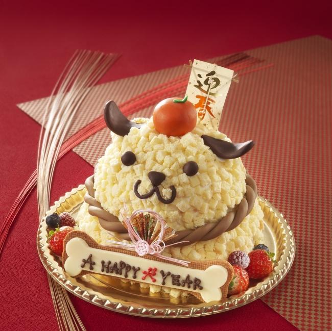 大阪リーガロイヤルホテルにて戌年にちなんだ愛らしいケーキが登場「A HAPPY 犬 YEAR」