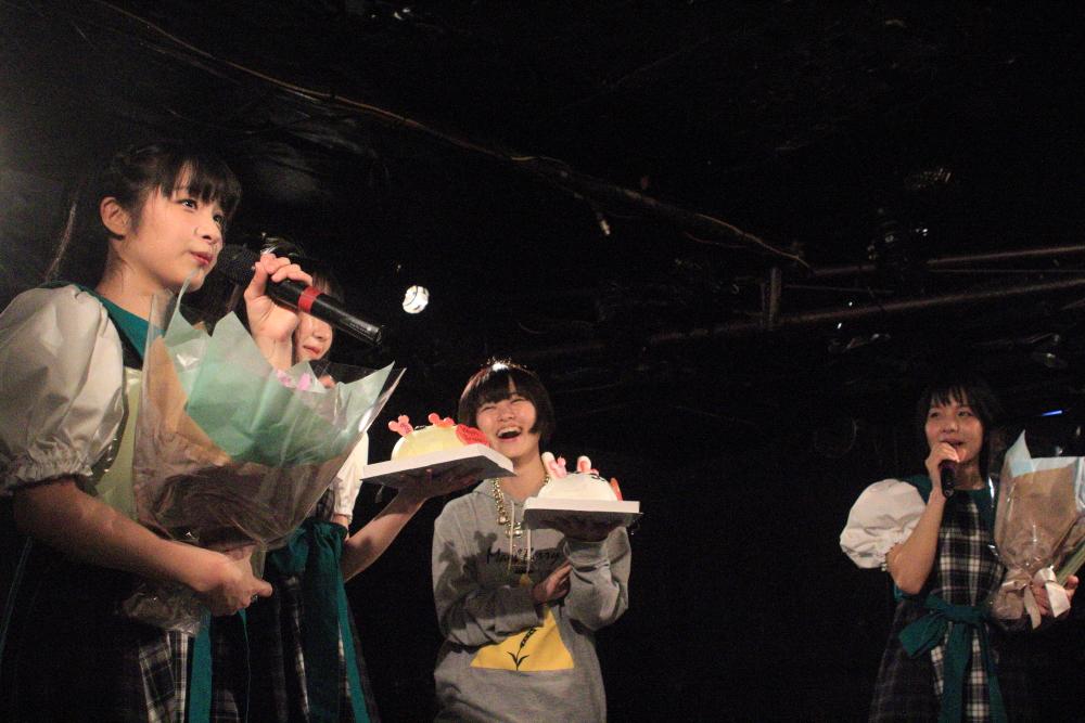 満員・大盛況のペパレス Vol.6!メログリちさみさ生誕&Mash Berryサポートちよこにもサプライズケーキ!
