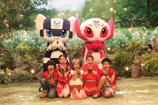 米津玄師プロデュースの小学生ユニット『Foorin』と東京2020マスコットが共に五輪を応援!