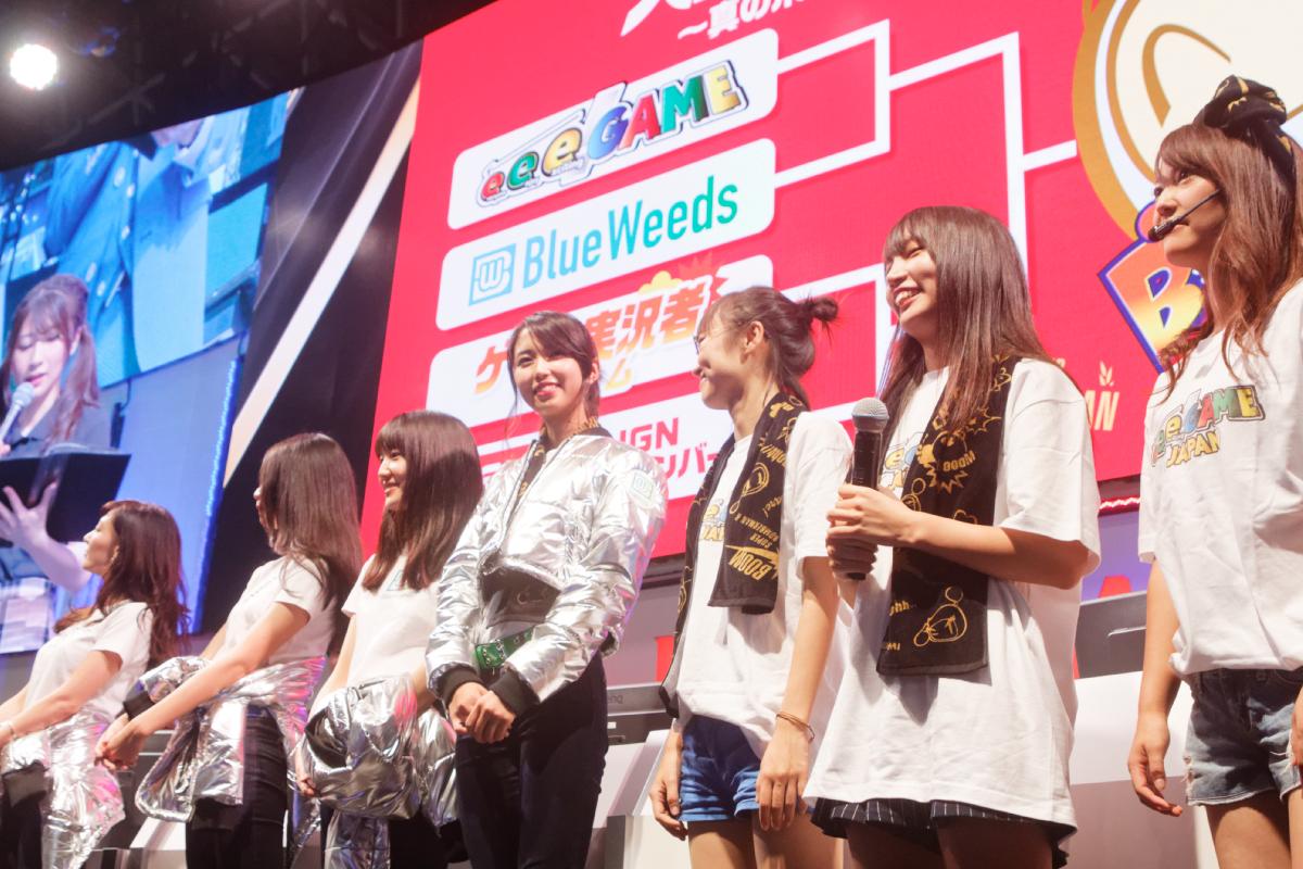 【TGS2018】KONAMIブースで石田晴香、Blue WeedsらEQリーグメンバーが活躍!『スーパーボンバーマン R』の腕前を披露