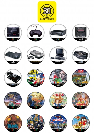 TGS2018で新発売のセガゲームス・カプセルトイ!メガドライブや『ぷよぷよ』『ソニック』『サクラ大戦』など缶バッジ登場