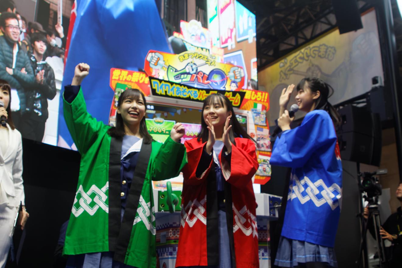 STU48瀧野・岩田・新谷がJAEPO2019「タイトーブース1日アンバサダー」に登場!「おまつりクエスト」でファンと対戦も