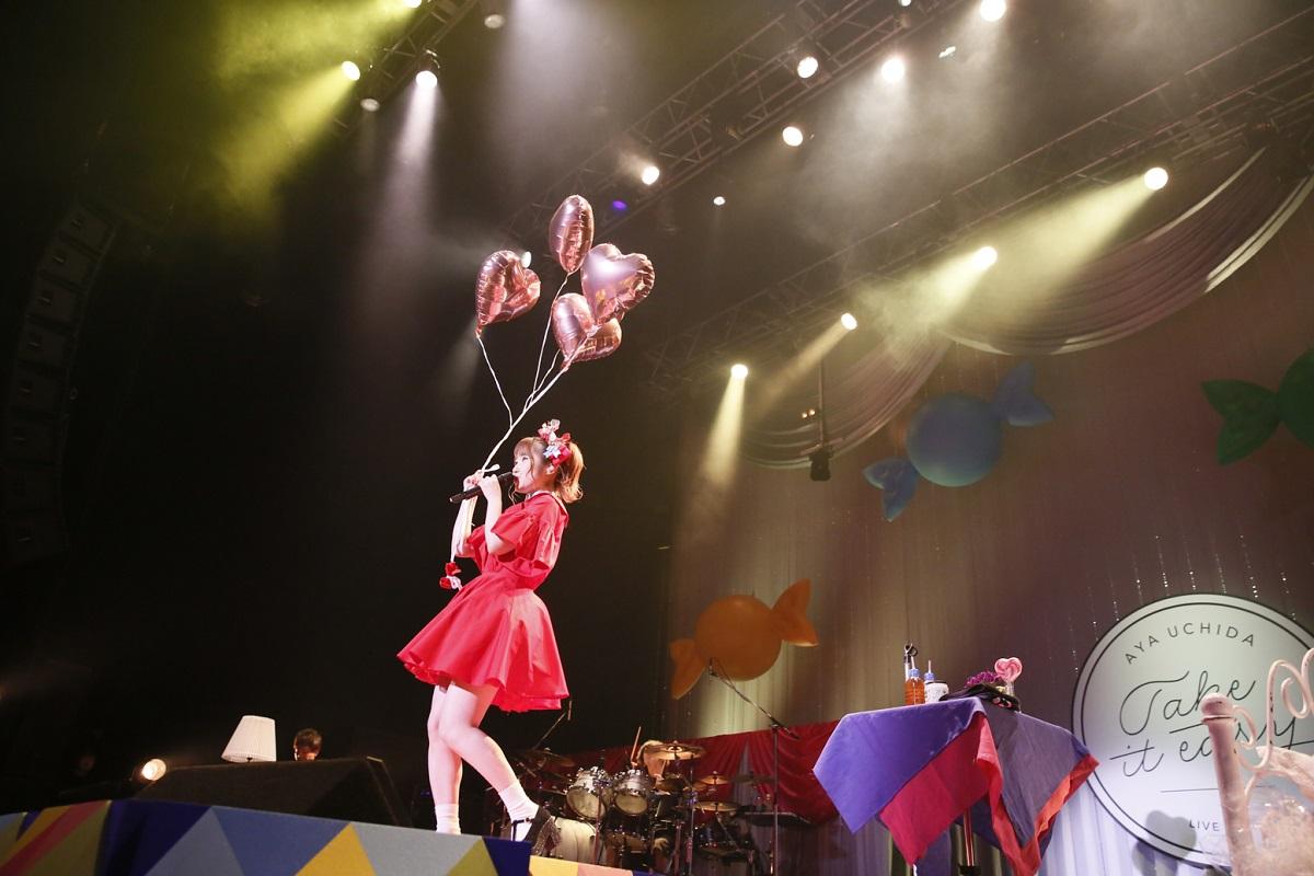 """声優・アーティストの内田彩が3rdシングル発売記念ライブで17曲の熱いステージを披露!「みんなとの""""Sign""""は笑顔かな。」"""