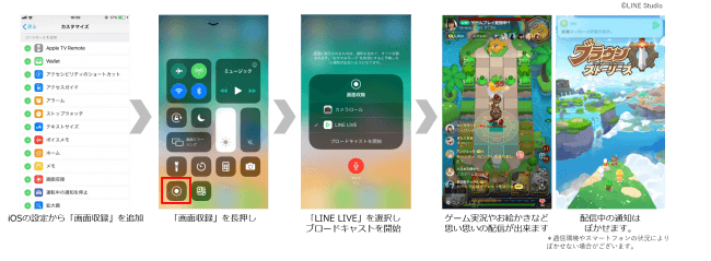 LINE LIVEがスマートフォン1台でゲーム実況配信も可能な「スクリーン配信」機能を実装!