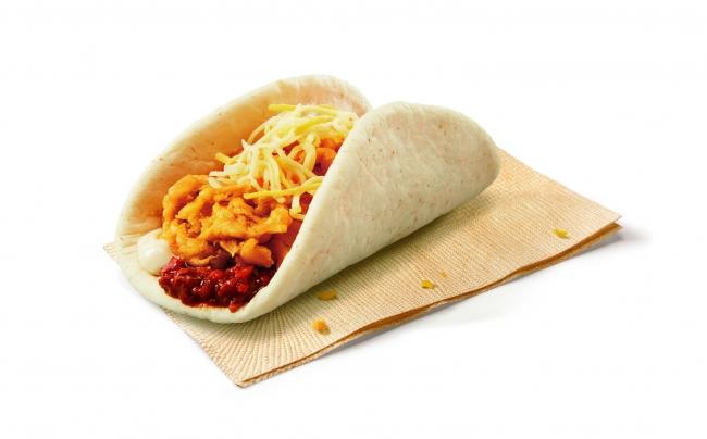 KFCから食欲をそそる新感覚タコス風サンド「チキンスライダー」が新登場!500円ランチの「チキンスライダーセット」も